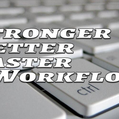 better workflow in photoshop